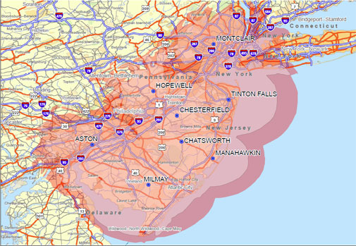 Widearea Coverage New Jersey Trenton Midstate Mobile Radio